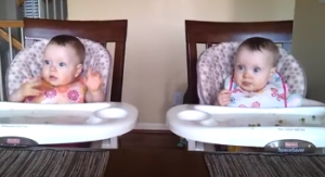 11 Month Old Twins Dancing to Daddy's Guitar