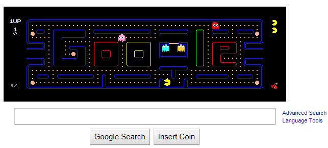Google Pacman i'm Feeling Lucky