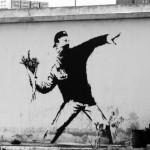 Banksy Flower Riot