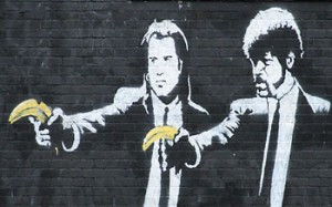 Banksy Street Art 5 - Pulp Fiction