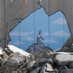 Banksy A Look through the West Bank wall in Israel