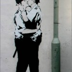 Banksy Kissing Police Persons
