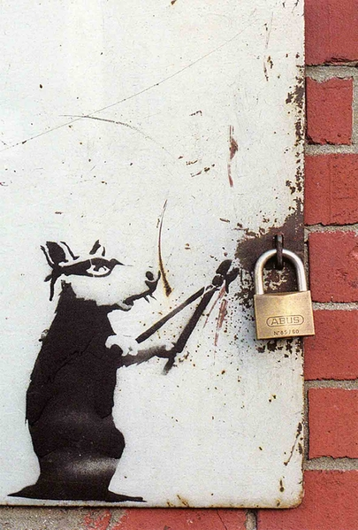 Banksy rats the image kid has it for Banksy rat mural